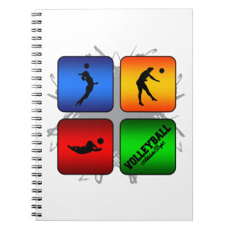Cuaderno Estilo urbano del voleibol asombroso