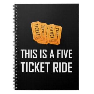 Cuaderno Esto es un paseo de cinco boletos