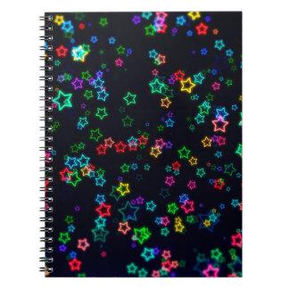 Cuaderno Estrella de neón del estallido colorido
