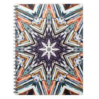 Cuaderno Estrella texturizada colorida