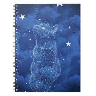 Cuaderno estrellado del gato