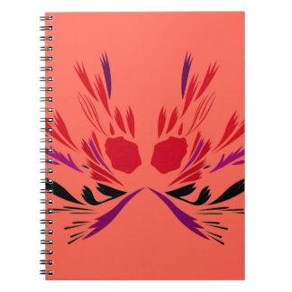 Cuaderno Ethno rojo del tatuaje de la alheña