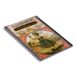 Cuaderno Etiqueta retra del tabaco c 1868