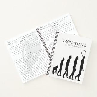 Cuaderno Evolución secretísima del cocinero de las recetas