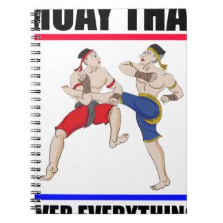 Cuaderno Excesivo tailandés de Muay todo