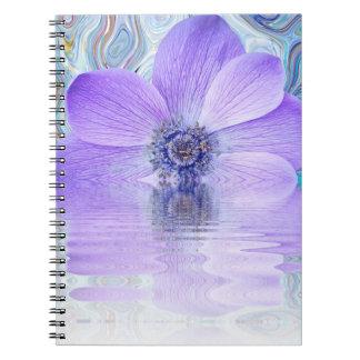 Cuaderno, explosión púrpura de la flor cuaderno