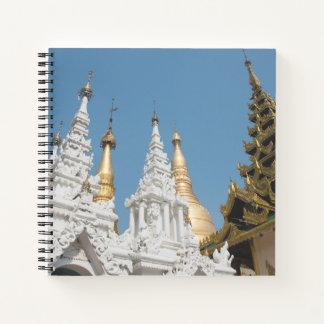 Cuaderno Exterior de la pagoda de Shwedagon