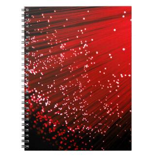 Cuaderno Extracto de la fibra óptica