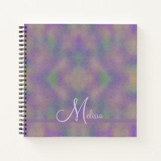 Cuaderno Extracto púrpura del nombre del oro verde