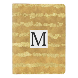 Cuaderno Extragrande Moleskine Monograma glamoroso de las rayas del oro