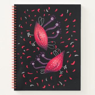 Cuaderno Extranjeros observados del dibujo animado del rojo