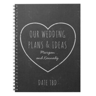 Cuaderno Falso diario de los planes y de las ideas del boda