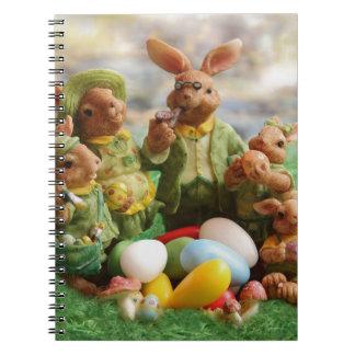 Cuaderno Familia del conejito de pascua
