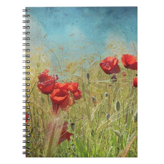 Cuaderno Fantasy poppies