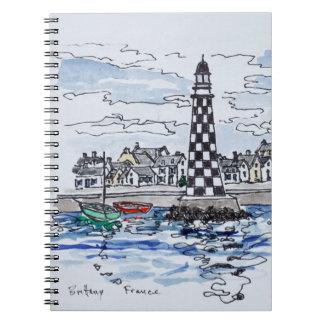 Cuaderno Faro de Perdrix, Loctudy el | Bretaña, Francia
