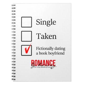 Cuaderno Ficticiamente fechar a un novio del libro
