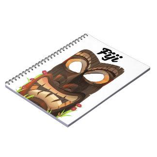 Cuaderno Fiji talló la máscara