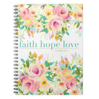 Cuaderno floral del amor el   de la esperanza de