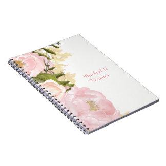 Cuaderno floral rosado