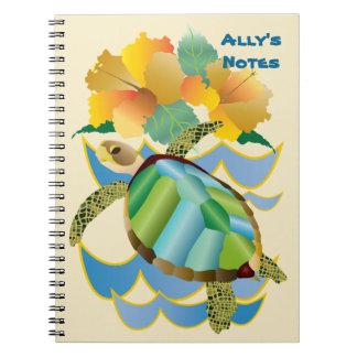 Cuaderno Flores amarillas tropicales bonitas del hibisco de