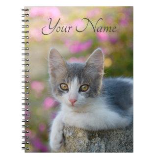 Cuaderno Flores bicolores jovenes lindas del rosa del