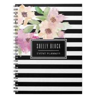 Cuaderno Flores y rayas de la acuarela