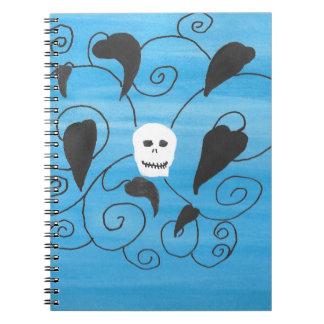 Cuaderno Flourish del cráneo