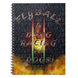Cuaderno Flyball Flamz: ¡Fricción que compite con para los