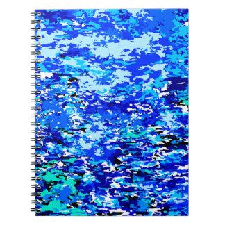 Cuaderno Fondo de las llamas azules