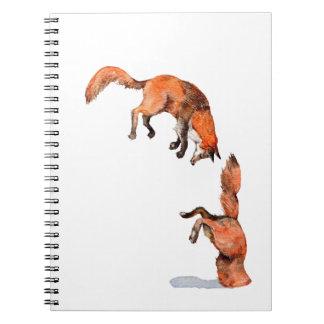 Cuaderno Fox rojo de salto