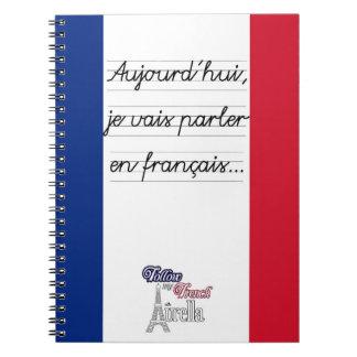 Cuaderno Français- del en del parler de los vais del je de