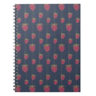Cuaderno Fresas colgantes minúsculas