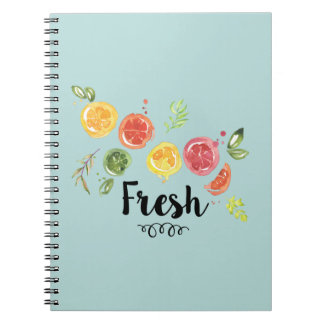 Cuaderno Fresco - agrios en acuarela