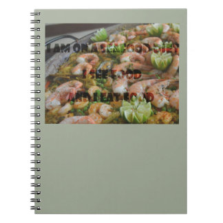 Cuaderno fresco y divertido de la dieta de los