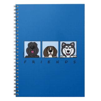 Cuaderno Friends: Bouvier, pachón & Alaskan Malamute,