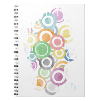 Cuaderno full of circles. Colorful and cool gift