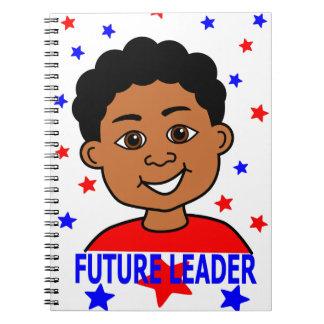 Cuaderno futuro de la imagen del líder del dibujo