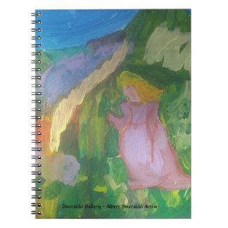 """Cuaderno Galería """" señora de Smeraldo en jardín """""""