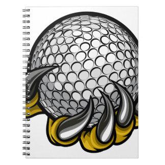 Cuaderno Garra del monstruo o del animal que sostiene la