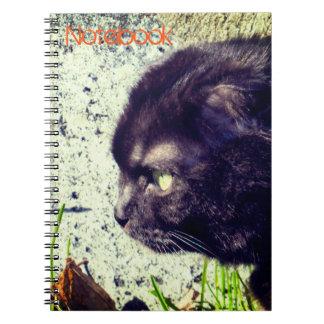 Cuaderno Gatito negro del doblez del escocés