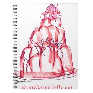 Cuaderno gato de la jalea de la fresa de los fernandes tony