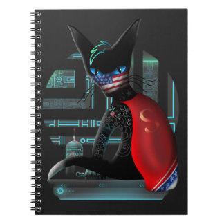 Cuaderno Gato de Ninja del Cyberpunk