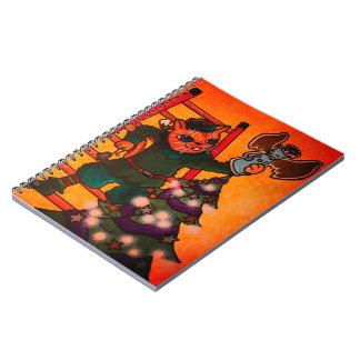 Cuaderno Gato del duende del navidad