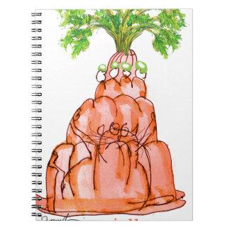 Cuaderno gato del jello de la zanahoria de los fernandes
