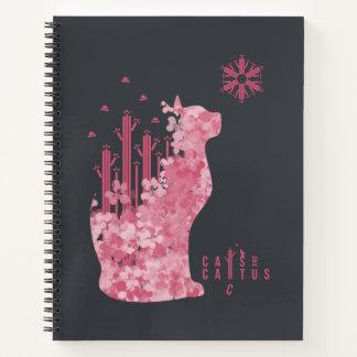 Cuaderno Gatos y cactus