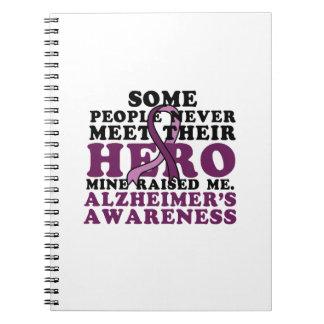 Cuaderno GIF de la ayuda de la conciencia de Alzheimer