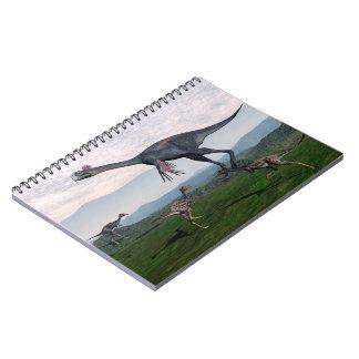 Cuaderno Gigantoraptor y pequeños dinosaurios del mononykus