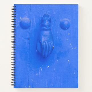 Cuaderno Golpeador de puerta azul vertical