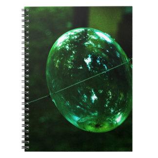 Cuaderno Gota de agua del vidrio verde