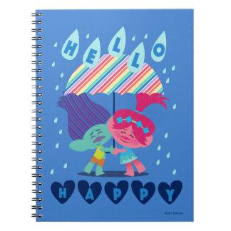 Cuaderno Gotas de lluvia felices de los duendes el |